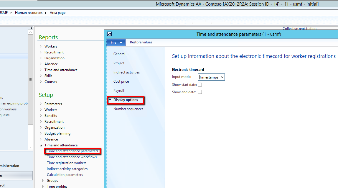 electronic timecard ax2012_ta_timecard_options - Electronic Time Card