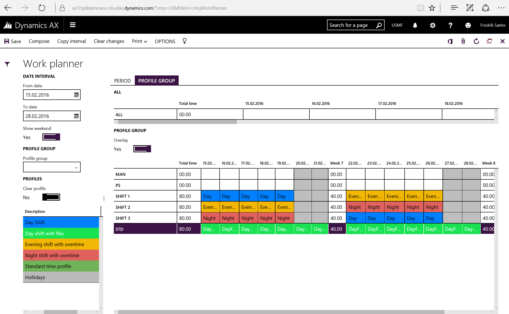 work planner