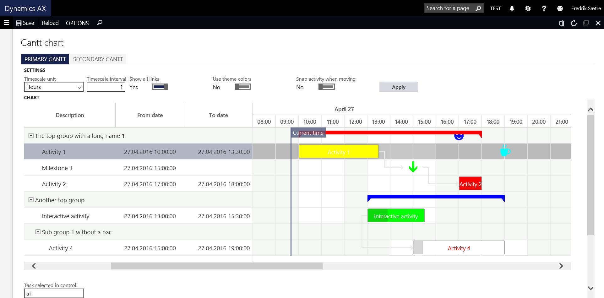 Ax7 Gantt Chart Control Dynamics Ax Tips