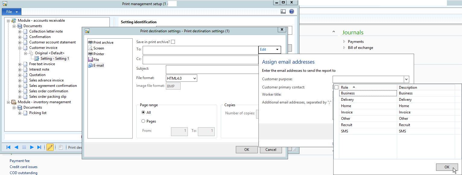 Einvoice_printSetting  How To Set Up An Invoice